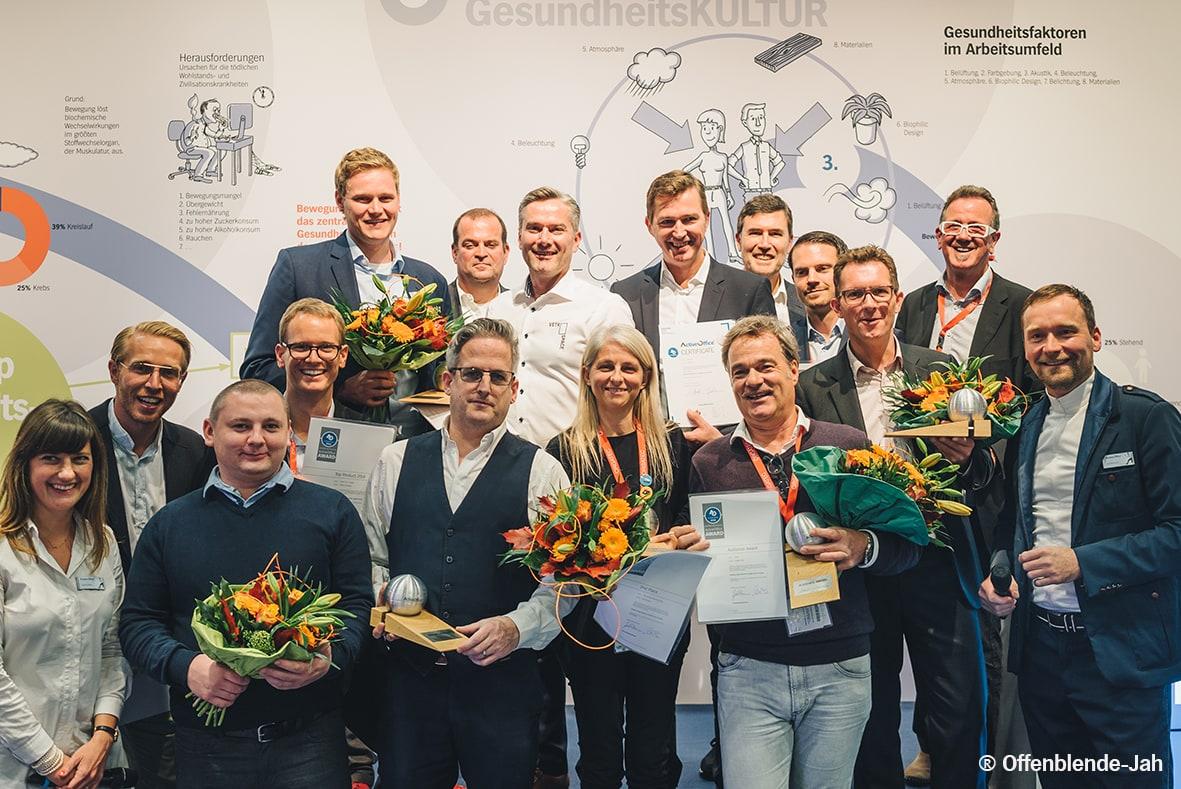 EUORCRES ActiveOffice Award 2018 Gewinner