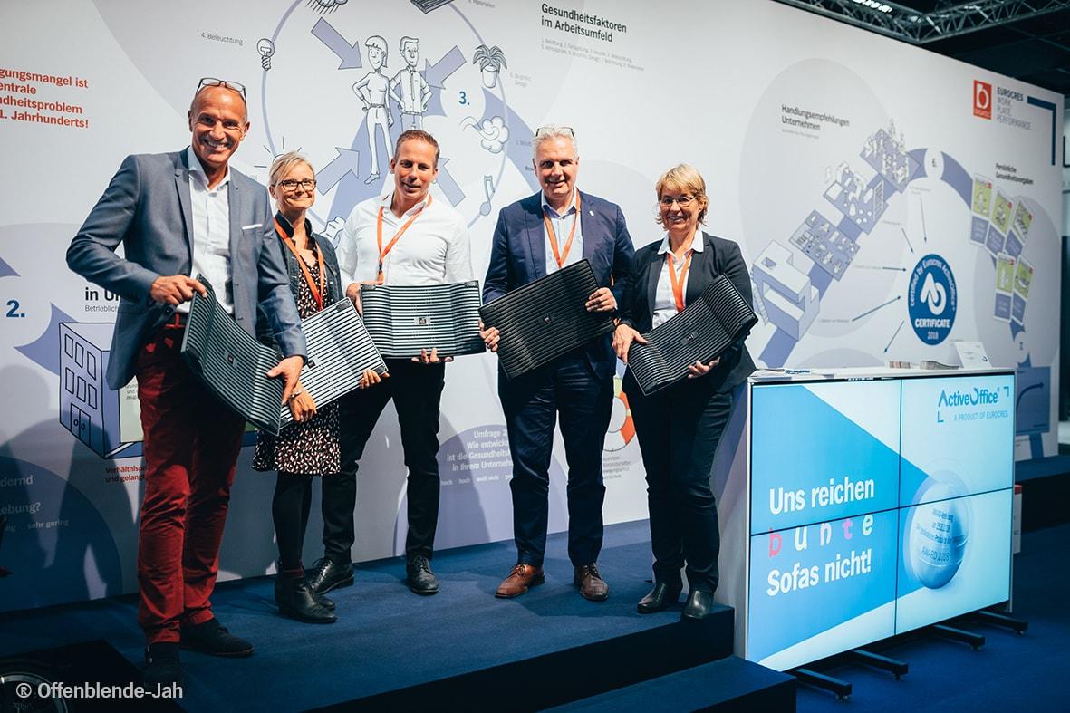 EUORCRES ActiveOffice Award 2018 Jury with Balance Boards
